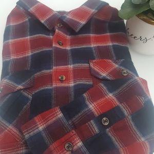VANS Large Plaid Button Down Tailored Fit Shirt